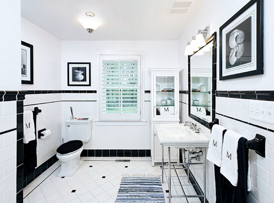 Contemporary Bathroom by John F. Heltzel AIA Architects - Top 20 Black and White Décorating Ideas to Inspire You
