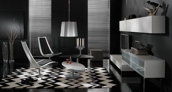 Dark Living Room - Top 20 Black and White Décorating Ideas to Inspire You