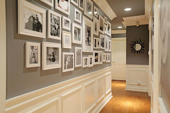 Hallway by Jenn Feldman Design - Top 20 Black and White Décorating Ideas to Inspire You