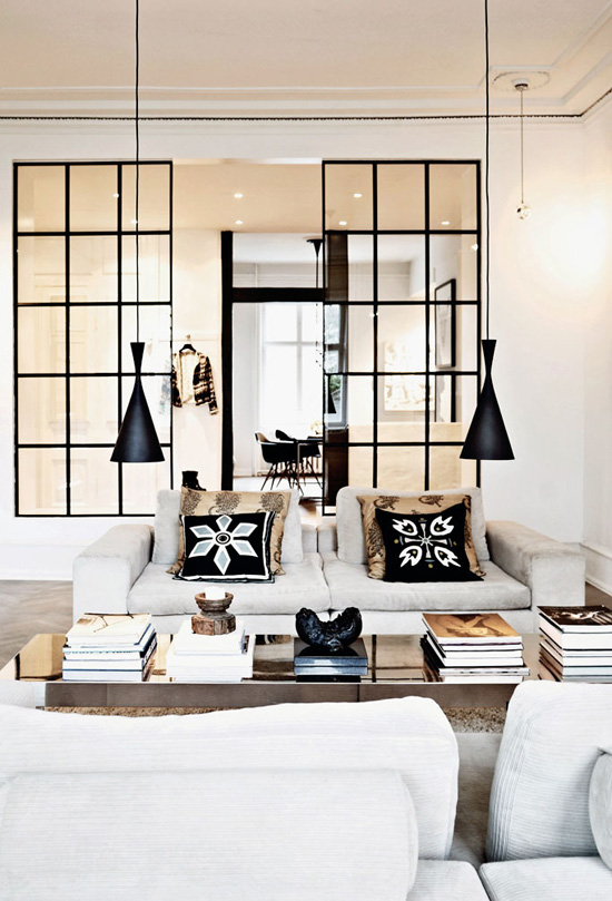 Home of Fashion Designer, Nija Munthe - Top 20 Black and White Décorating Ideas to Inspire You