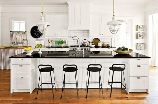 Farmhouse style kitchen by Historical Concept - Top 20 Black and White Décorating Ideas to Inspire You