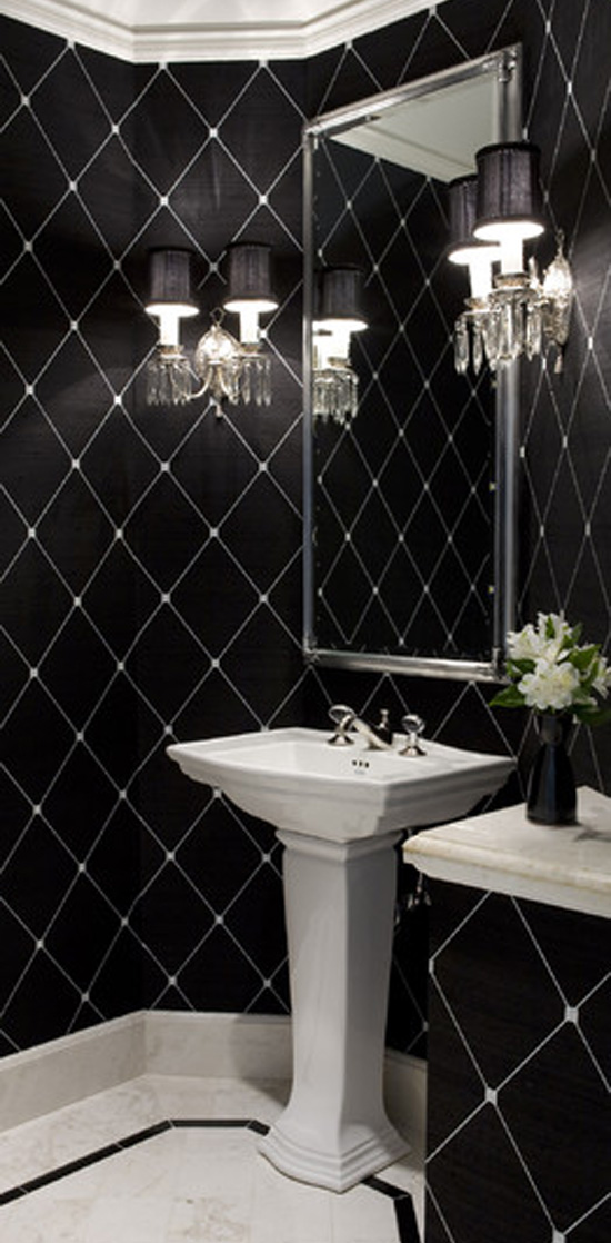 Powder Room by Laura Barnett Designs - Top 20 Black and White Décorating Ideas to Inspire You