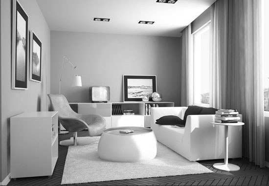 Winsome Ikea small living room - Top 20 Black and White Décorating Ideas to Inspire You
