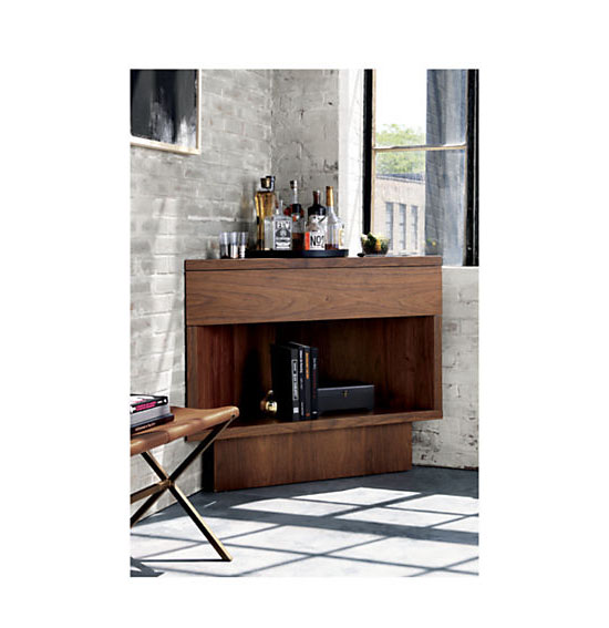 CB2 Topanga Corner Bar by Kravitz Design
