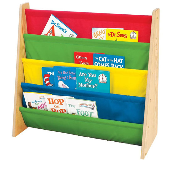 Tot Tutors Book Rack In Primary Colors