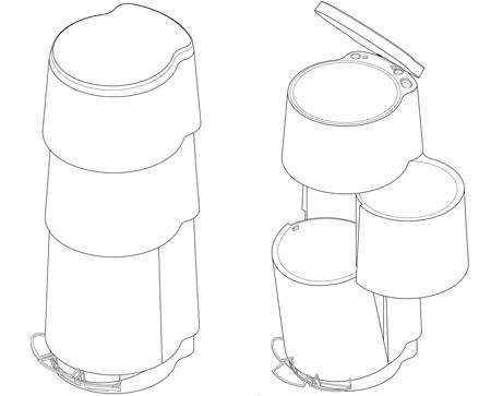 tri3 three tier trash can