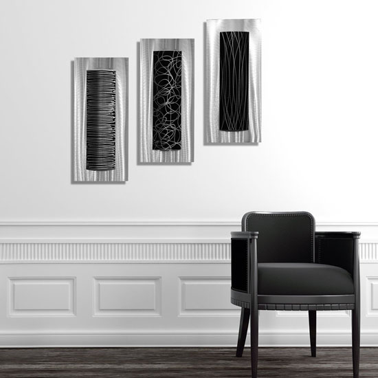Fancy Modern Trifecta Metal Wall Art by Jon Allen Is The Highlight of Any Room