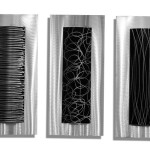 "Modern ""Trifecta"" Metal Wall Art Is The Highlight of Any Room"
