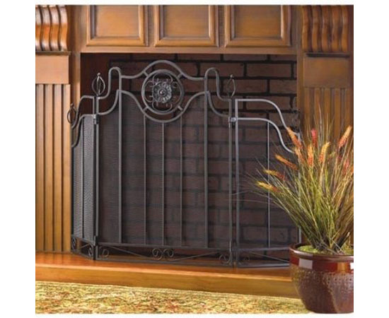 Tuscan Design Home Fireplace Mesh Screen