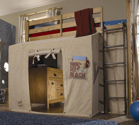 Twin Loft Bed & Twin Loft Bed With Canopy: The Bed You And Your Kids Would Love To ...