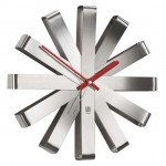 Modern and Stylish Umbra Ribbon Stainless Steel Wall Clock