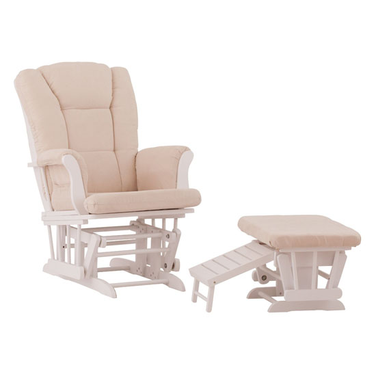 Veneto Glider And Nursing Ottoman