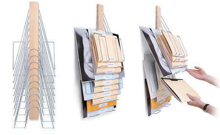 Verticla File Rack