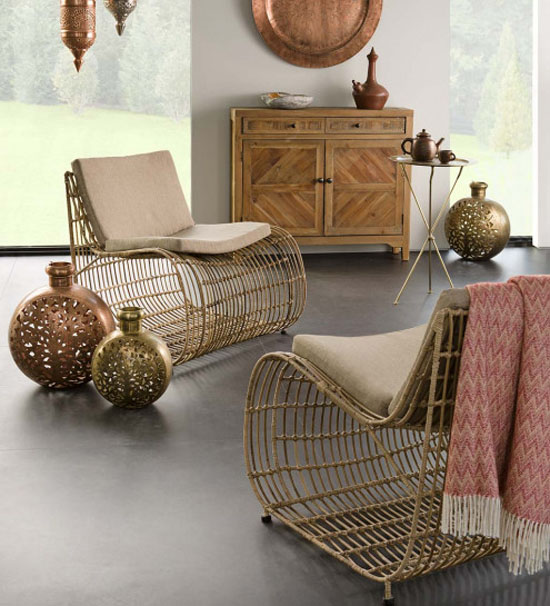 Contemporary Rattan Lounge Chair With Mid Century Vibe From VivaTerra