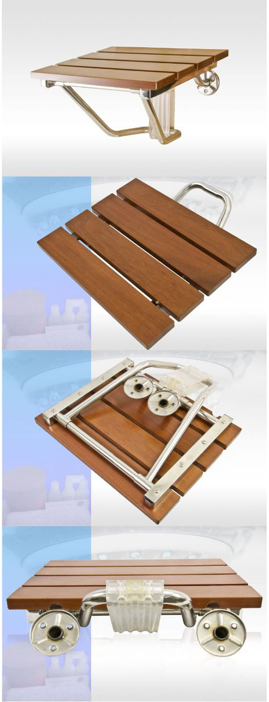 Wall Mount Shower Bath Seat Shower Bench Folding Seat
