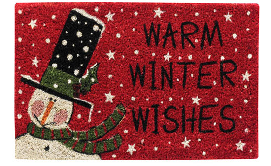 Warm Winter Wishes Snowman Doormat