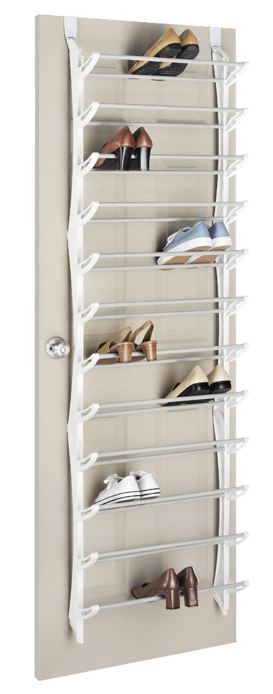 Whitmor 6486-1746-WHT Over-The-Door Shoe Rack