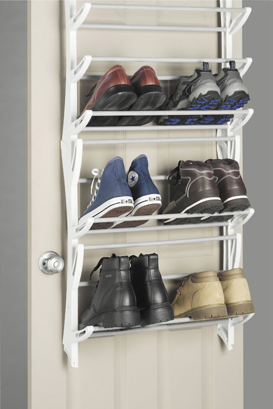 Whitmor 6486-1746-WHT Over-The-Door Shoe Rack