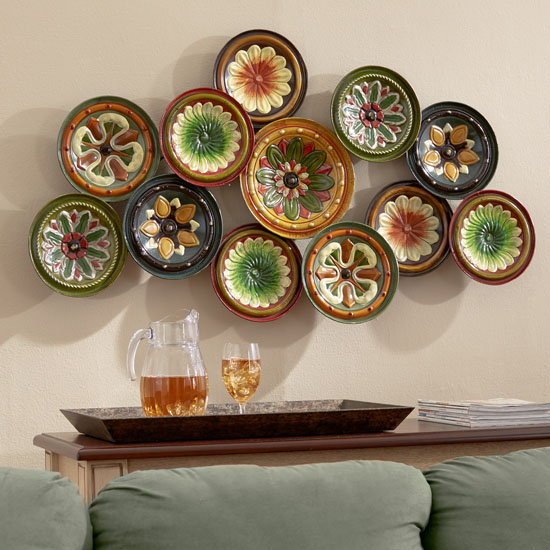 Three Posts Winston Wall Decor Features Beautiful Metal Floral Medallions