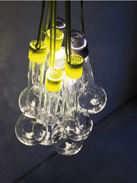 Wrapped Glass Lamp