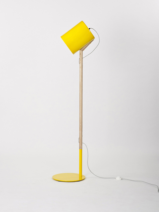 Yellow Lean Floor Lamp