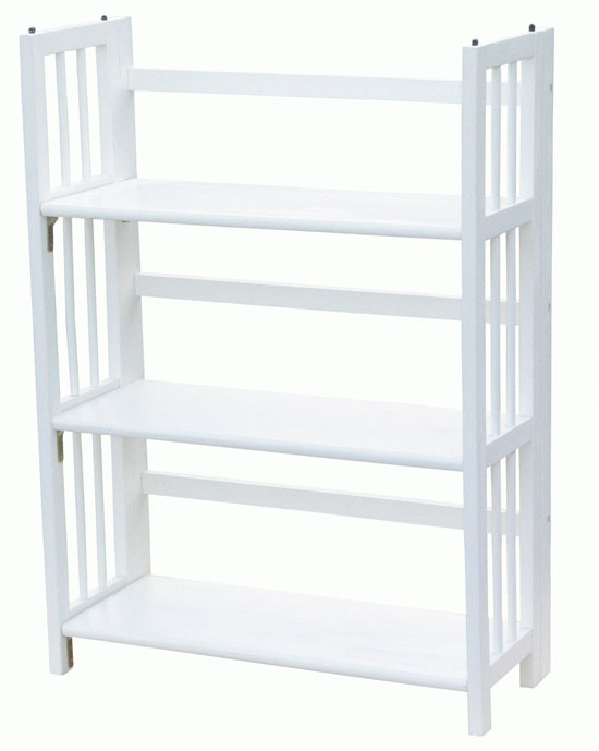 Yu Shan 3 Shelf Folding Stackable Bookcase