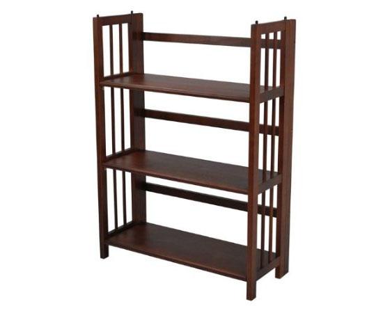 Yu Shan 3 Shelf Folding Stackable Bookcase
