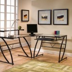 The Z-Line Belaire Glass L-Shaped Computer Desk Is Your Perfect Tool To Keep Your Workplace In Order